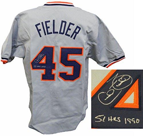 Cecil Fielder Tigers - Cecil Fielder Signed Grey Custom Baseball Jersey w/51 HRs 1990