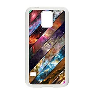 Samsung Galaxy S5 Cases A rainbow of the Universe For Boys, Samsung Galaxy S5 Case For Girl Binocara, [White]