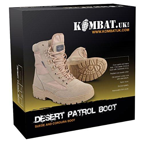 Kombat UK Botas de Patrulla del Desierto para Hombre: Amazon.es: Deportes y aire libre