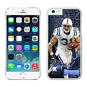 NFL iPhone 6 Plus 5.5 Inches Case Indianapolis Colts Donald Brown White iPhone 6 Plus Cell Phone Case ONXTWKHB1937