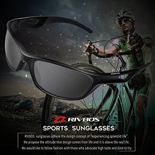 RIVBOS Polarized Sports Sunglasses Driving sun shades For Men TR90 Unbreakable Frame RB831