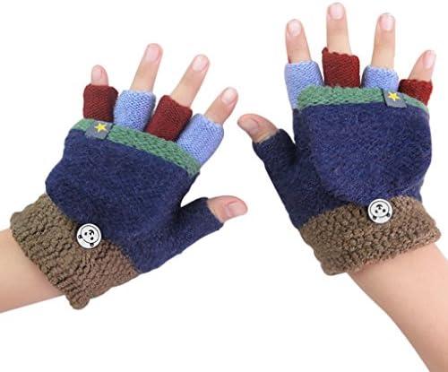 Children Boys Kids Girls Half Finger Mitts Mitten Kid's Gloves Knitted Gloves