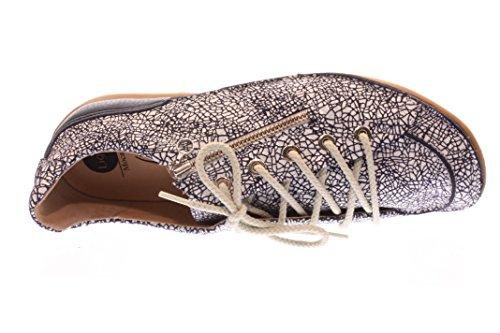 Mujeres Zapatos planos blau crakle Multi color, (blau crakle) 46961