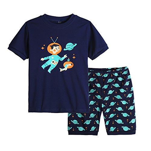 - MyFav Big Boys Pajamas 2 Piece Short PJS Cute Cartoon Shark Sleepwear 6-14 Years