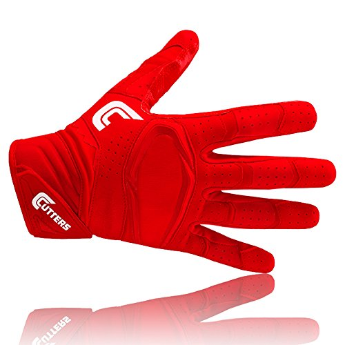 Cutters S451 REV PRO 2.0 American Football Receiver Handschuh, solid-rot, Gr. XL