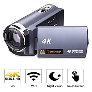 Camcorder Video Camera Full HD 1080p Camcorders 24.0 MP Digital Camera Webcam Pause Function 16X Digital Zoom …