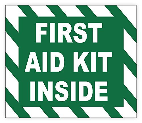 FIRST AID KIT INSIDE sign sticker decal 5