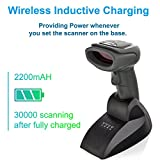 LS-PRO Wireless Barcode Scanner with USB Cradle Receiver Charging Base, 2.4GHz Handheld 1D Cordless Laser Barcode Reader, UP to 100m Transmission Range, long-life Battery 2200mAh, 1 Year Warranty.