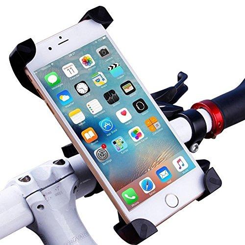 Universal Fahrradhalterung Fahrrad Handyhalterung für Handy Smartphone iPhone 6 Galaxy S7 | 2016 Premium Bike Mount Handy Halterung Halter Schwarz
