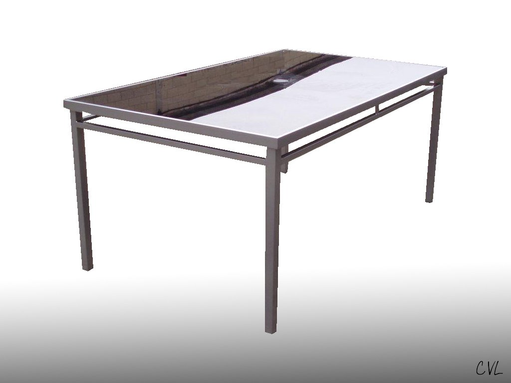 NEW SICILY RECTANGULAR BLACK GLASS GARDEN DINING TABLE Amazonco