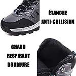 FOGOIN Chaussures de Randonnée Homme Femme Bottes de Marche Chaussures Montante Hiver 10