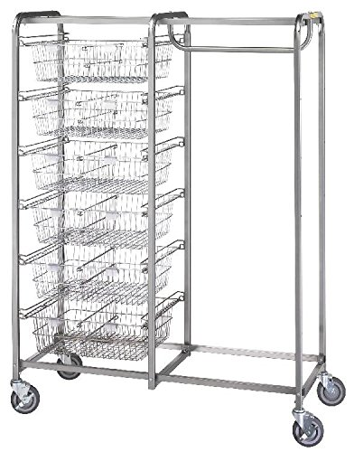 R & B Wire 1014 Six Basket-Garment Hanger Resident Item Cart - Resident Item Cart