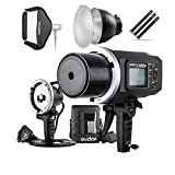 Godox AD600BM 600Ws GN87 HSS Flash Strobe Monolight with 8700mAh Battery, 600W Portable Lamp Flash Head, 23''X23'' Flash Softbox, 7'' Standard Reflector, 7'' Flash Diffuser and Portable Flash Bag