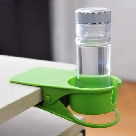 LAAT Botella de Agua Portavasos Clip para Escritorio Cochecito de bebé Soporte para Vaso Jaulas de