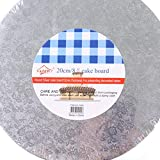 8 10 12 14 Inch Round Cake Boards - Thick Corrugated Cardboard Round Cake Drum Cardboard Disposable Layered Cake Pizza Circle Scalloped Gold Stackable Tart Decorating Base Stand
