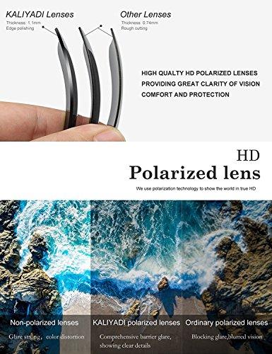 Mens Wayfarer Polarized Sunglasses Vintage Refective Mirror Lens Sun Glasses Womens:UV400 Protection (2 pairs) by KALIYADI (Image #5)