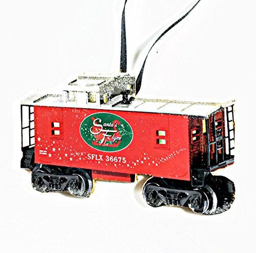 - Lionel Train Ornament, Handcrafted Wood Santa Flyer Caboose Set, O Gauge Set, Christmas Gift, Kids' Ornaments, Toy Train 1950s Nostalgia Husband