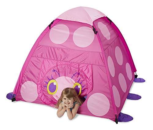 Melissa & Doug Sunny Patch Trixie Ladybug Camping Tent (Tent Camping Toy)
