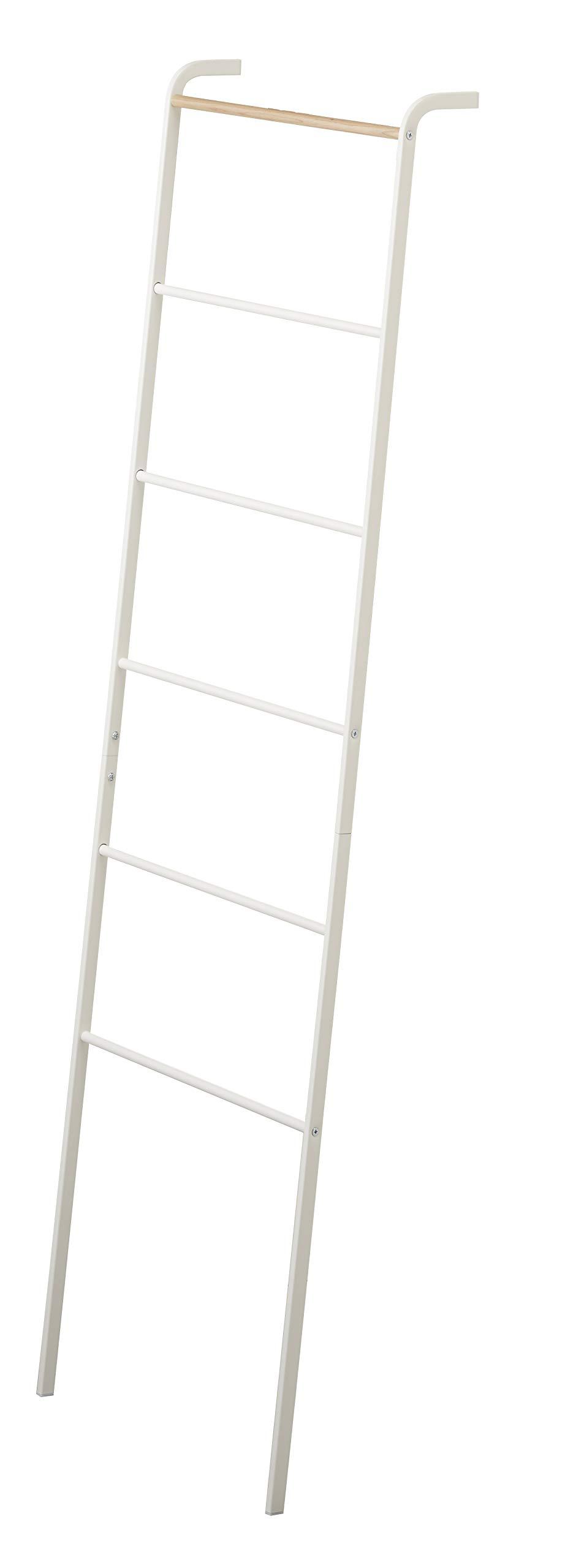 YAMAZAKI home Leaning Ladder Rack, White - 2812