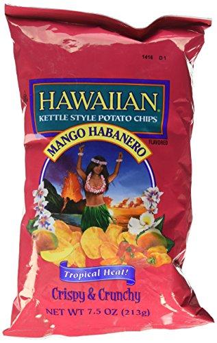 (Hawaiian Kettle Style Potato Chips, Mango Habanero, 7.5)