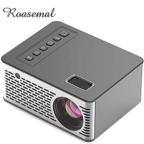 Roasemal 2019 Newest Android Mini Projector 1080 HD Support Videos Via HDMI Home Cinema Movie LED Projector Portable…