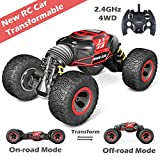 Jasonwell 1:14 Transformable RC Car Remote Control Cars for Kids 4WD Off Road Vehicle Rock Crawler 2.4Ghz Rechargeable Monster Truck Buggy Hobby Racing Car Toys Gifts Boys Girls 6 7 8 9 10 12 Year Old