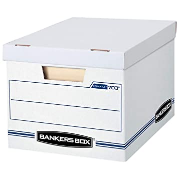 Bankers Box 703 Letter Legal 10x12x15 Basic Duty Storage File Boxes W Lift Off Lids Pack Of 10