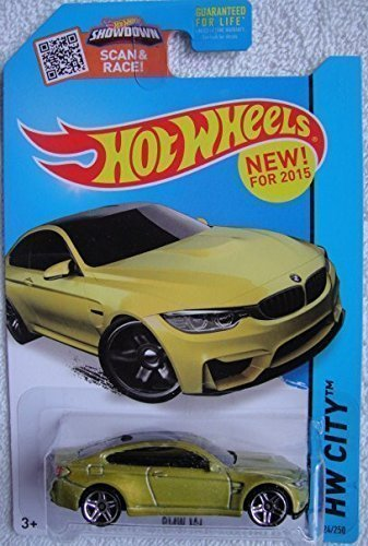 Hot Wheels 2015 HW City BMW M4 24/250, - Gold Diecast Car