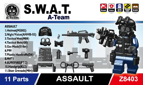SWAT Team Minifigure Gear Pack, Black - Buy Online in UAE. | Toy ...