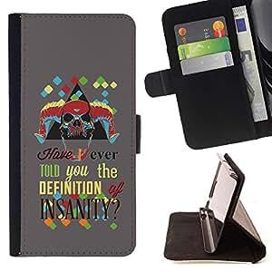 KingStore / Leather Etui en cuir / Samsung Galaxy S4 Mini i9190 / La definición de locura