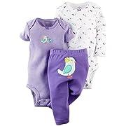 Carter's Baby Girls' 3 Piece Take Me Away Set (Baby) - Bird - Newborn