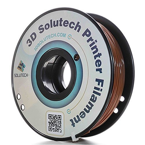3D Solutech PLABRW Chocolate 3D PRINTER PLA Filament 1.75mm Filament, Dimensional Accuracy +/0.03 mm, 2Lbs (1.0kg), 1.75Millimeters, PLA, Brown by 3D Solutech