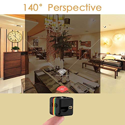 Thriverline SQ11 Mini Camera HD Camcorder Sports Mini DV Video Recorder FPV Camera 1080P FOV140 Night Vision (SQ11 Camera)