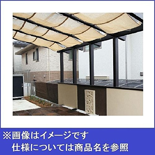 タカショー ポーチテラス カフェスタイル FIX腰壁 独立(壁寄せ)タイプ 1.5間×4尺 強化ガラス(クリア) ブラウンエボニー B06Y4VZV4Q  本体カラー:ブラウンエボニー