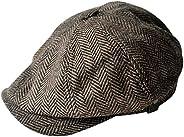 MINAKOLIFE Mens Vintage Style 'Shelby' Cloth Cap Hat Twill Cabbie Hat