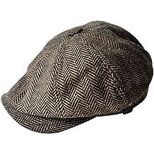 MINAKOLIFE Mens Vintage Style 'Shelby' Cloth Cap Hat Twill Cabbie Hat newsboy