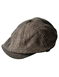 f80da008 MINAKOLIFE Mens Vintage Style 'Shelby' Cloth Cap Hat Twill Cabbie Hat  Newsboy