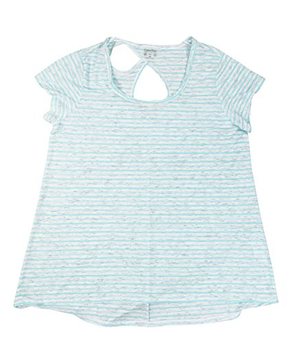 Calvin Klein Performance Womens Plus Jersey Striped Pullover Top
