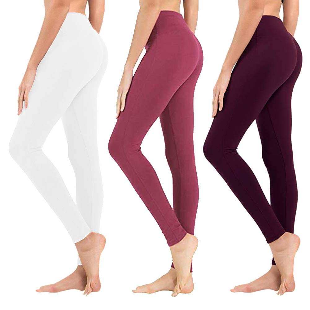 High Waisted Leggings for Women - Buttery Soft Tummy Control Pants for Yoga Workout Running