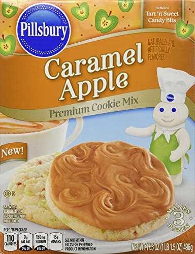 Pillsbury Caramel Apple Premium Cookie Mix, 2 Boxes of Mix