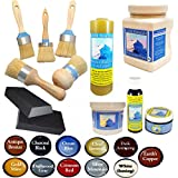 Chalk Mountain Brushes PROFESSIONAL ALL IN ONE Chalk Furniture Painters Kit - The All Natural Way To Restore (#24)