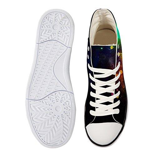 Bigcardesigns Mode Galaxie Loup Décontracté Haut Haut Toile Chaussures Sneakers Loup 2