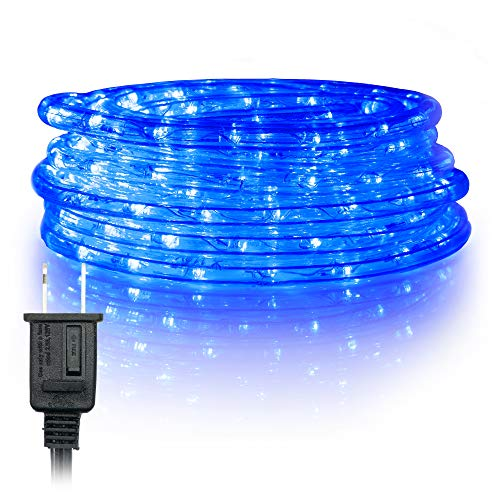 WYZworks 150' feet Blue LED Rope Lights - Flexible 2 Wire Accent Holiday Christmas Party Decoration Lighting | UL Certified ()