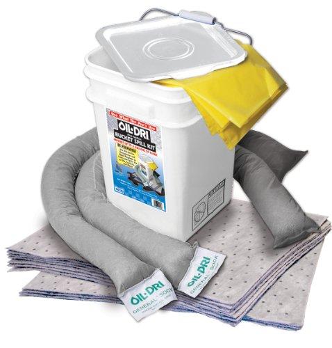 Oil-Dri L90435 Compact Universal 5-Gallon Bucket Spill Kit, 5-Gallon Maximum Absorption Capacity (Response Oil Spill)