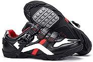 BUCKLOS Road Cycling Shoes Men Women, Precise Buckle Strap Mountain Bike Shoes Peloton Sneakers Spin Shoes MTB