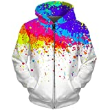 UkEdNs 3D Men Hoodies Zip Up Splatter Color Paint Stains 3D Print Streetwear Casual Jacket Men Women Outwear 01 S