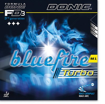 - DONIC Bluefire M1 Turbo Table Tennis Rubber (Black, Max)