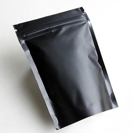 Amazon.com: 100 pcs Negro Mate Foil cierre de cierre Fuelle ...