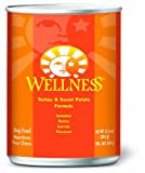 Wellness Canned Dog Food for Adult Dogs, Turkey and Sweet Potato Recipe, 12-Pack of 12-1/2-Ounce Cans
