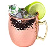 Funnytoday365 530Ml Stainless Steel Beer Wine Coffee Milk Cup Drum Style Rose Gold Drinking Cup Hammered Copper Plated Moscow Mule Cup Gift